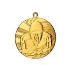 """Медаль тематическая """"Плавание"""", золото, D-4см (40601)"""