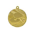 """Медаль тематическая """"Теннис"""", золото, D-4см (41662)"""