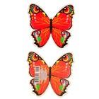 """Украшения на скотче """"Красная бабочка"""" 100х120мм"""