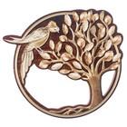 """Ключница деревянная """"Птица на дереве"""""""
