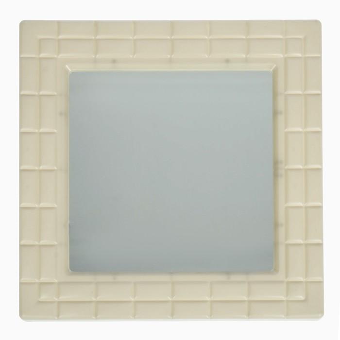 """Зеркало квадратное """"Ника"""", цвет слоновая кость"""