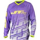 Джерси JT Racing, FLEX ECHO, фиолетово/белый, размер L