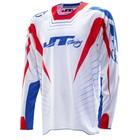 Джерси JT Racing, HYPERLITE RAZOR RWB, бело/сине/красный, размер L