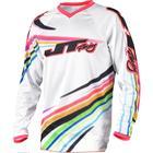 Джерси JT Racing FLEX-FLOW, белый/микс, размер L