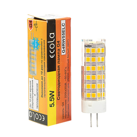 Лампа светодиодная Ecola Corn Micro, 5.5 Вт, G4, 2800 K, 320°, 57х16