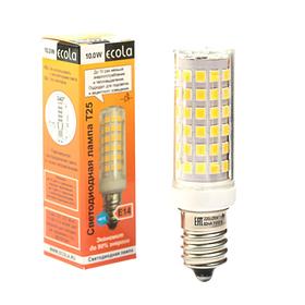 Лампа светодиодная Ecola, T25, 10 Вт, E14, 4000 K, 340°, для холодильников и швейных машин