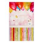 """Фотофон винил """"Воздушные шары и разноцветные доски"""" стена+пол 80х125 см"""