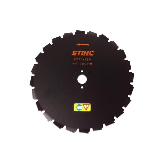Диск триммерный Stihl 4110 713 4204, долотообразный, d=225 мм, 24 зуба, FS450 - 560