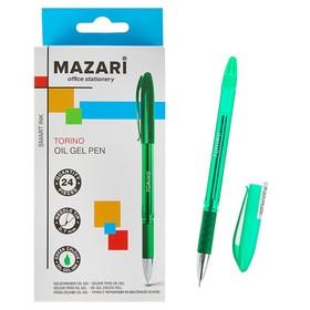 Ручка шариковая Mazari Torino, игольчатый пишущий узел 0.7 мм, чернила зелёные на масляной основе