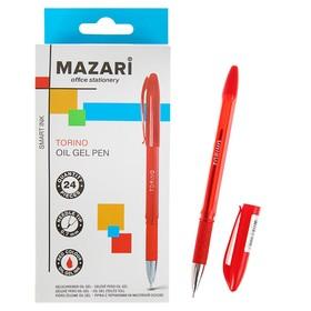 Ручка шариковая Torino, игольчатый пишущий узел 0.7 мм, чернила красные на масляной основе