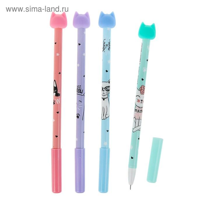 """Ручка """"пиши-стирай"""" гелевая MIAO, узел 0.5мм, чернила синие, микс"""