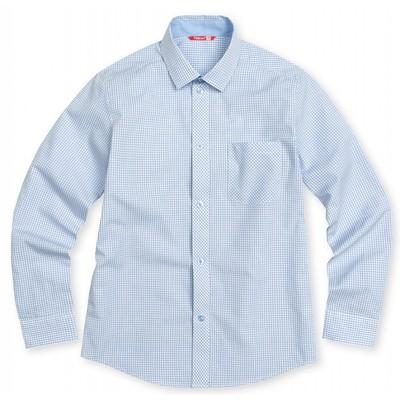 Сорочка верхняя для мальчика, рост 128 см, цвет голубой