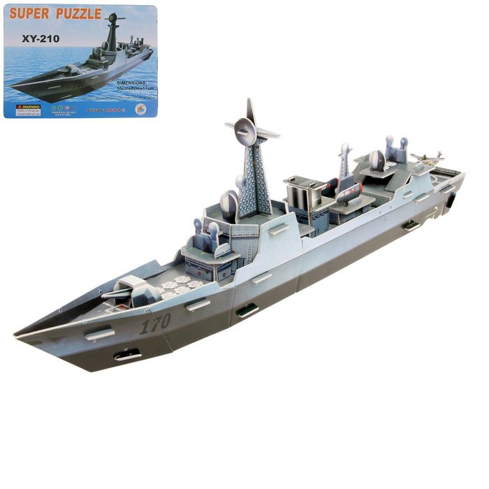 Конструктор 3D «Военный корабль - фото 1034214