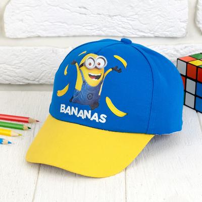 """Кепка детская """"Bananas"""" Гадкий Я, р-р44-52, 3-5лет"""
