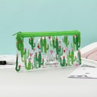 "Pencil case soft ""Happiness around us"", flat 20.5 cm*9.5 cm"