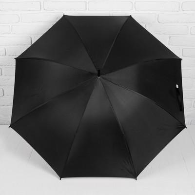 """Зонт-трость """"Ночной Париж"""", полуавтоматический, R=53см, цвет чёрный"""
