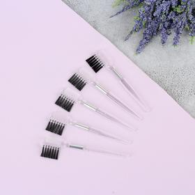 Set of combs-brushes for eyebrows and eyelashes, 9.3 cm, 5pcs, color: transparent