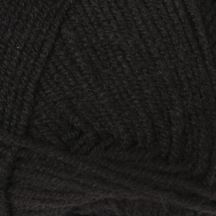 """Пряжа """"Merino de luxe 50"""" 49% шерсть, 51% акрил 280м/100г (585 черный) - фото 724908357"""