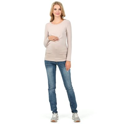 """Джемпер женский """"Майя"""" для беременных, р. 44,рост 170-176, цвет бежевый100219"""