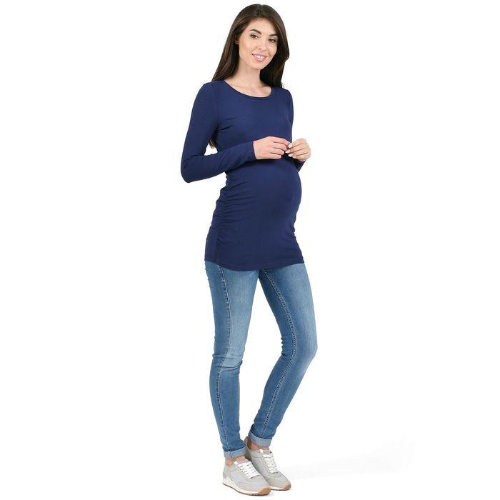 Лонгслив женский «Майя» для беременных, цвет тёмно-синий, размер 42