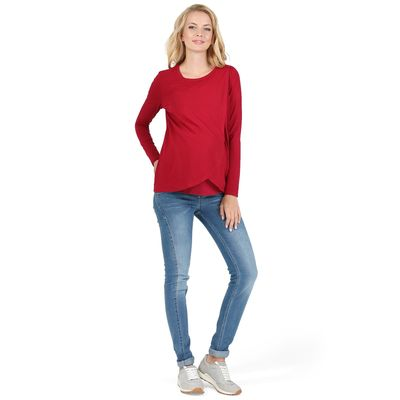 """Джемпер женский """"Селена"""" для беременных и кормящих, р. 46,рост 170-176, цвет бордовый   28215"""