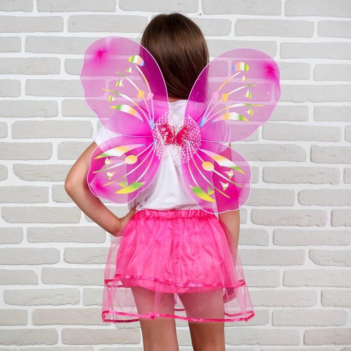 Карнавальный набор «Бабочка», 2 предмета: юбка и крылья - фото 105446077