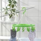 Сушилка для белья подвесная круглая 15 прищепок, цвет МИКС