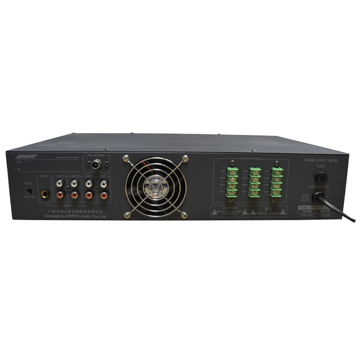 Микшер-усилитель ABK PA-2106 6 зон, USB/SD/FM плеер, 2 микрофонных входа, 3 AUX вх