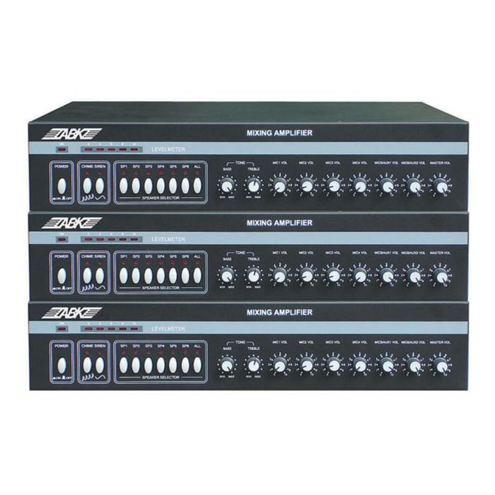 Микшер-усилитель ABK PA-3225 вход: 5 микрофонных, 2AUX, 70/100В, 250Вт