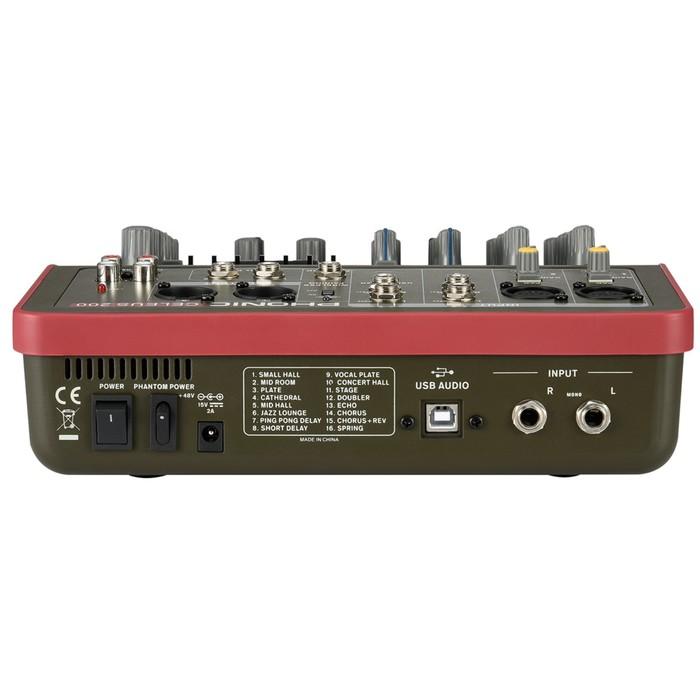 Микшер Phonic CELEUS 200 6-ти канальный, USB плеер/рекордер, USB аудиоинтерфейс