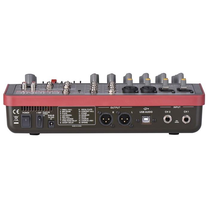 Микшер Phonic CELEUS 400 8-ми канальный, USB плеер/рекордер, USB аудиоинтерфейс, Bluetooth