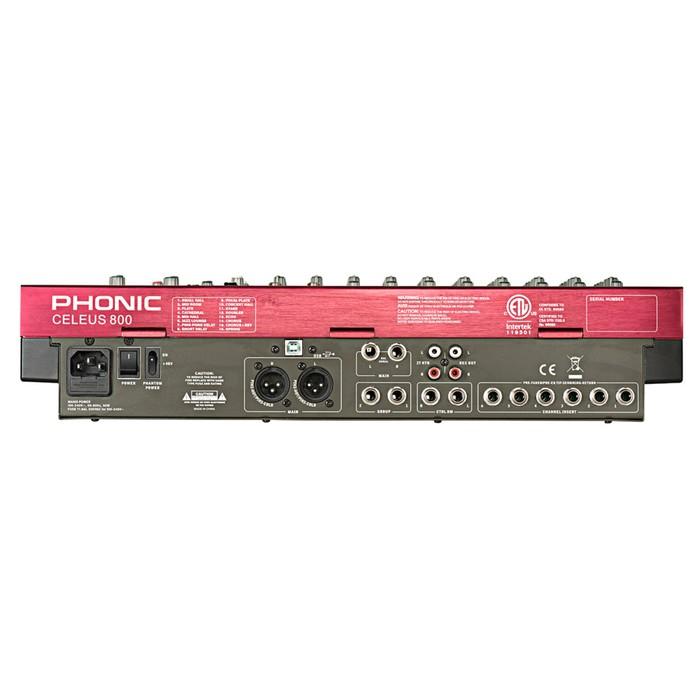 Микшер Phonic CELEUS 800 14-ти канальный, USB плеер/рекордер, USB аудиоинтерфейс