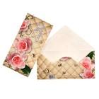 """Конверт для денег """"С Днём Свадьбы!"""" розовые розы, бабочки"""