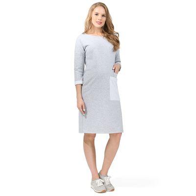 """Платье """"Капитолина"""" для беременных 100313 цвет серый меланж 282165, р-р 44"""