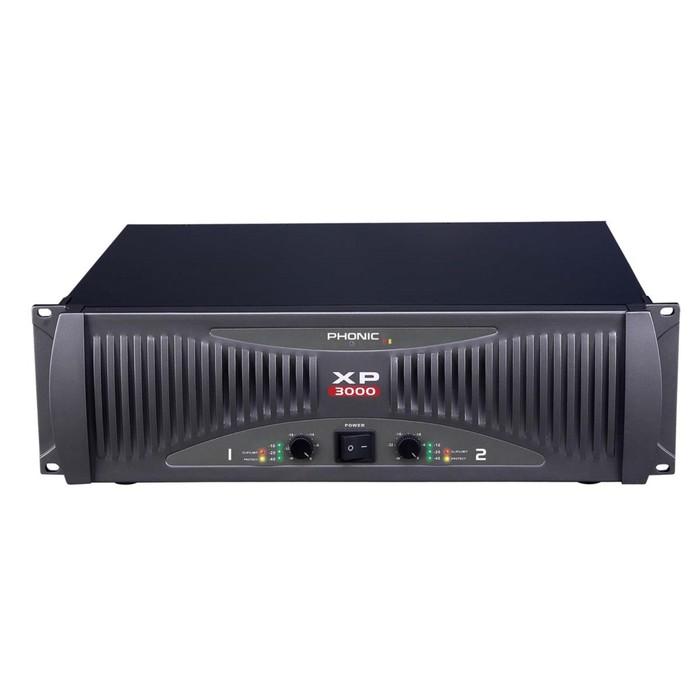 Усилитель мощности Phonic XP 3000 2х450Вт/8Ом, 2х660Вт/4Ом, 960Вт/ 2Ом, 2U