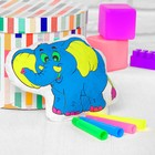 """Toy-coloring """"Elephant"""", markers 4 colors, washed with water"""