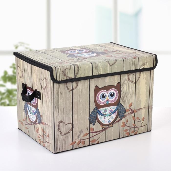 """Короб для хранения с крышкой 38×25×25 см """"Совёнок"""""""