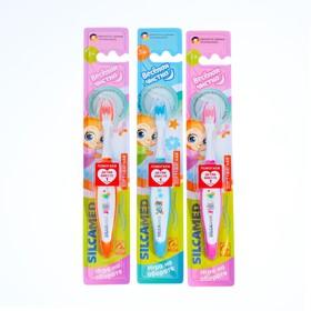 Зубная щетка детская Silcamed  Веселая чистка 3+