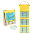 """Набор для ванной """"Яркие пузыри"""": кармашек на 3 отделения из пластика и 3 бурлящих шара"""