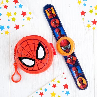 """Подарочный набор """"Самый крутой"""" часы + кошелек, Человек-паук"""