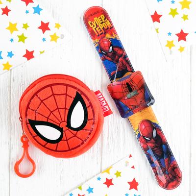 """Подарочный набор """"Супер герой!"""" часы + кошелек, Человек-паук"""
