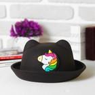 """Шляпа детская с ушками """"Пони"""", р-р. 52 см"""