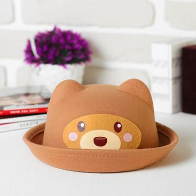 """Шляпа детская с ушками """"Медвежонок"""", р-р. 52 см"""