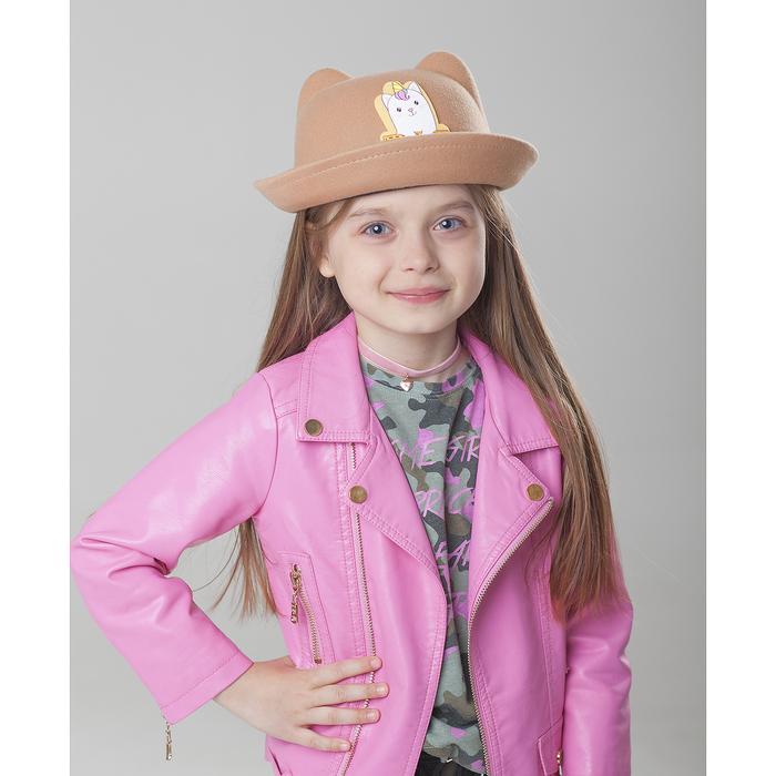 Шляпа детская с ушками «Мяу», р-р. 52 см