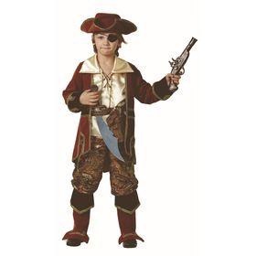 Карнавальный костюм «Капитан пиратов» коричневый, (бархат и парча), размер 40, рост 158