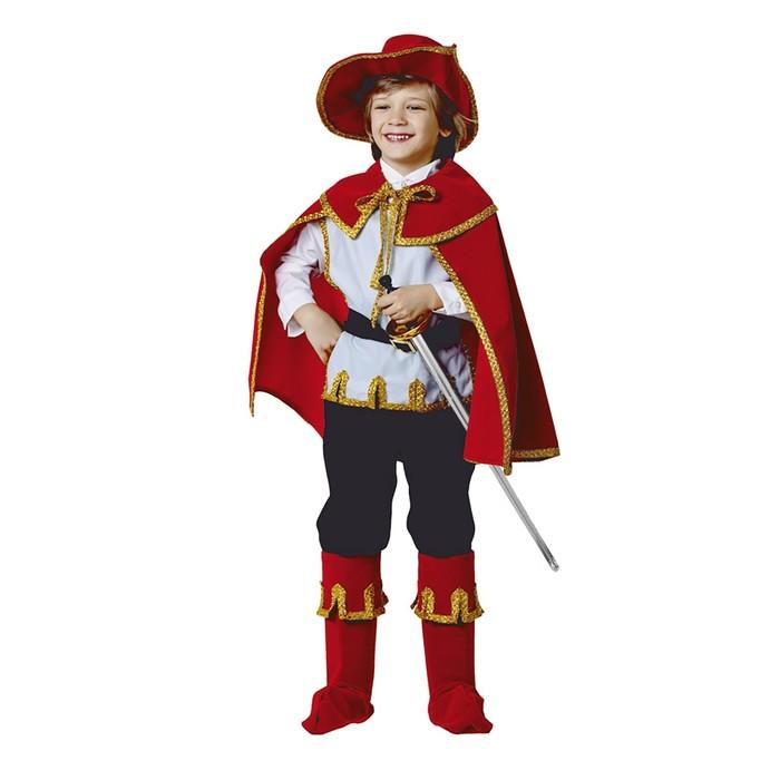 Карнавальный костюм «Кот в сапогах», бархат, размер 32, рост 122 см