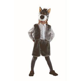 Карнавальный костюм «Волк», мех, размер 28, рост 110 см