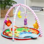 Развивающий коврик с дугами «Слоник и друзья», 5 игрушек, с подушечкой - фото 544915
