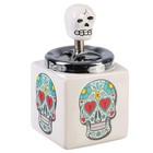 """Smokeless ashtray """"the Skull"""" mix 8.5x16 cm"""