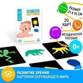 Развивающая игра для младенцев «Цветные картинки»